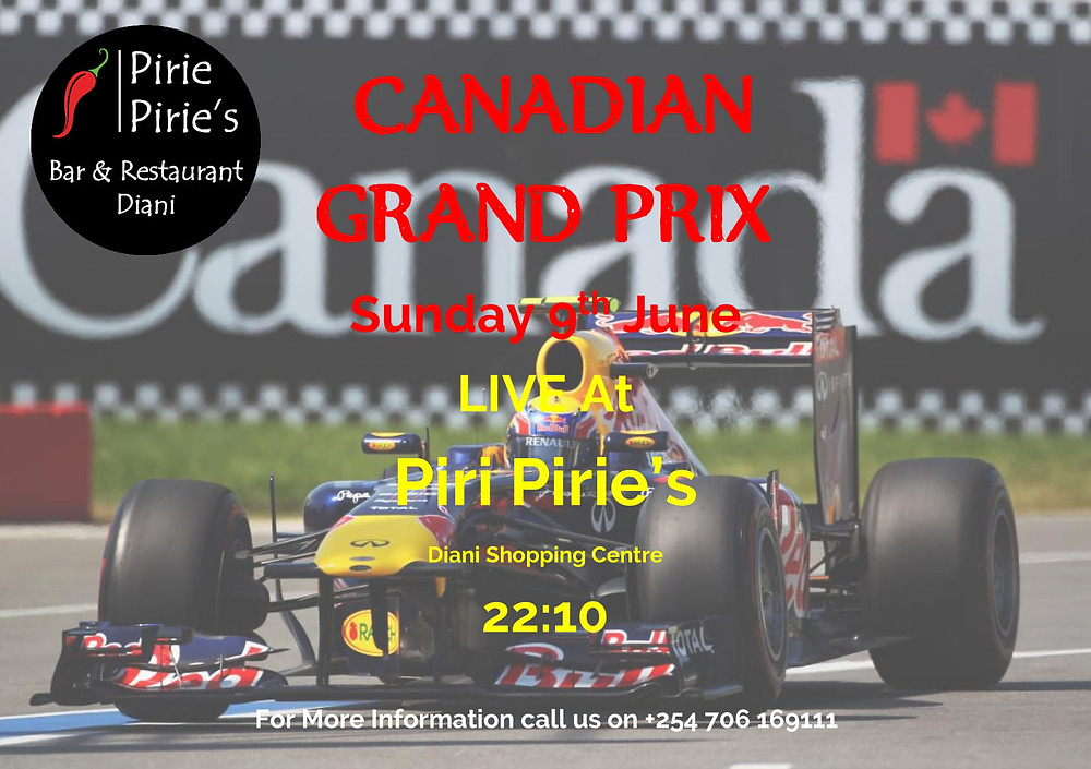Canadian Grand Prix Sunday 9th June 22:10