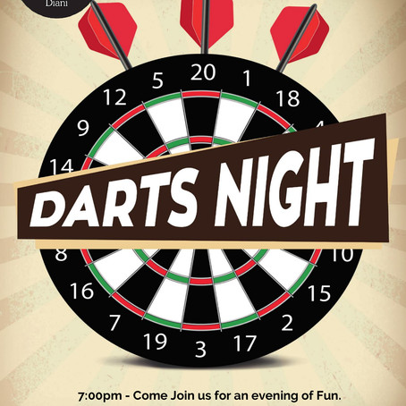 Darts Night Tuesday 11th June