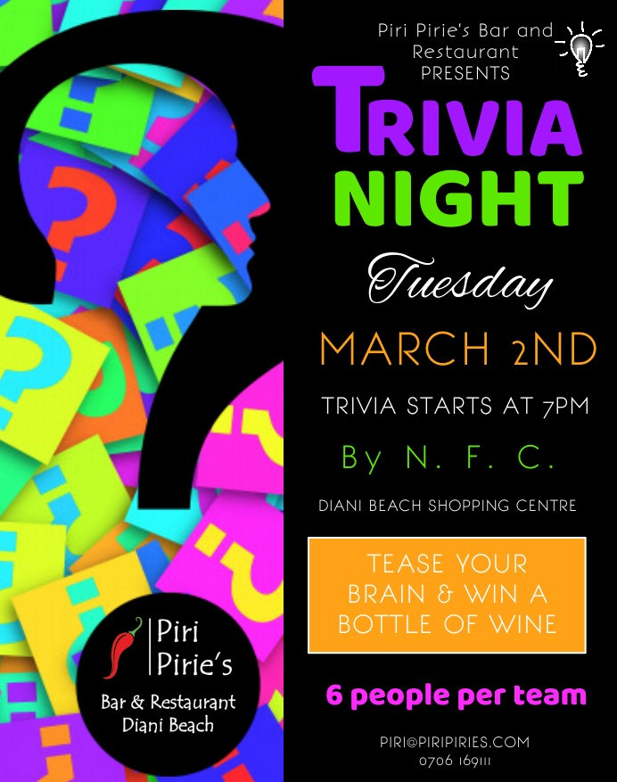 Quiz night by NFC 2nd March