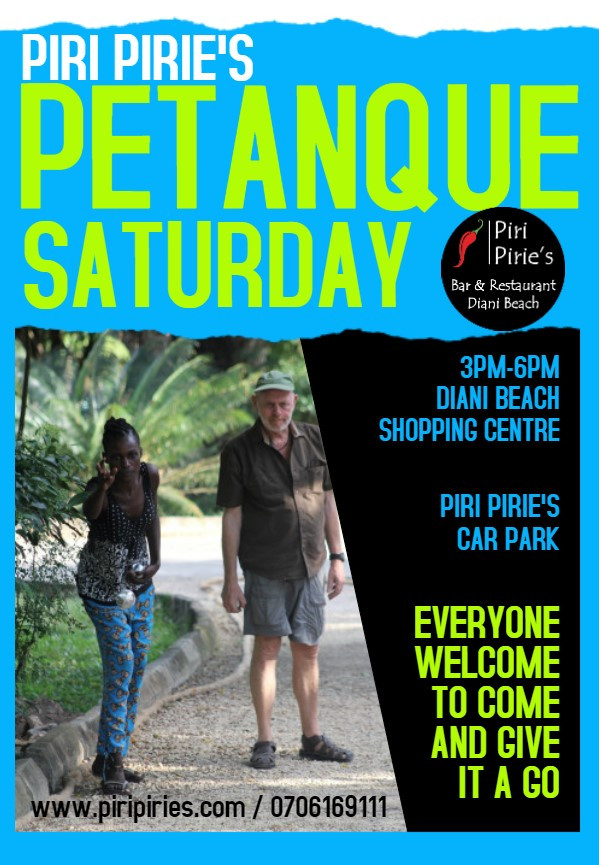 Petanque every Saturday at Piri Piries from 3pm