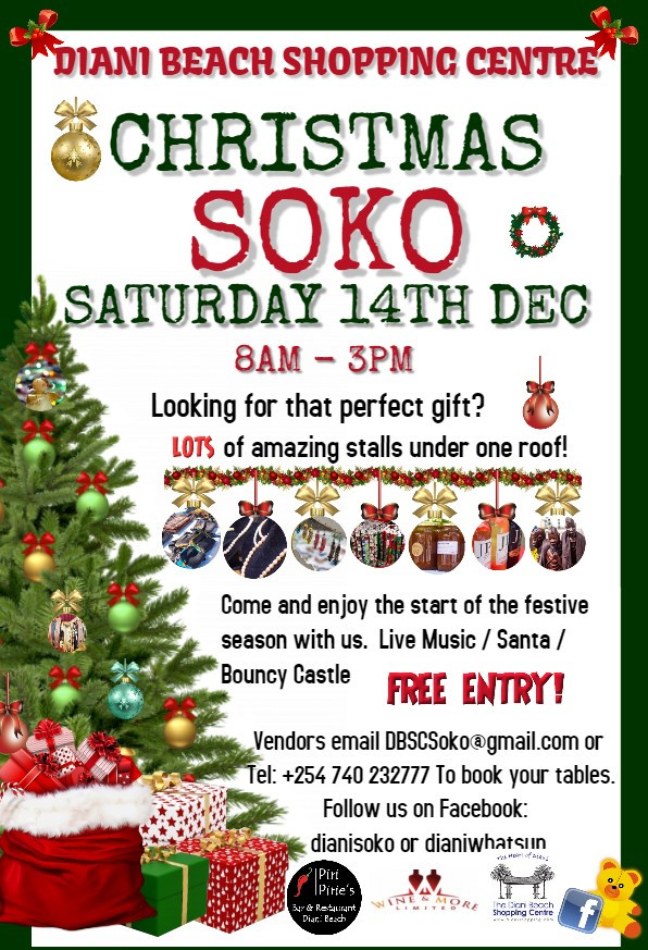 Soko Day at Piri Piries Sat 14th Dec