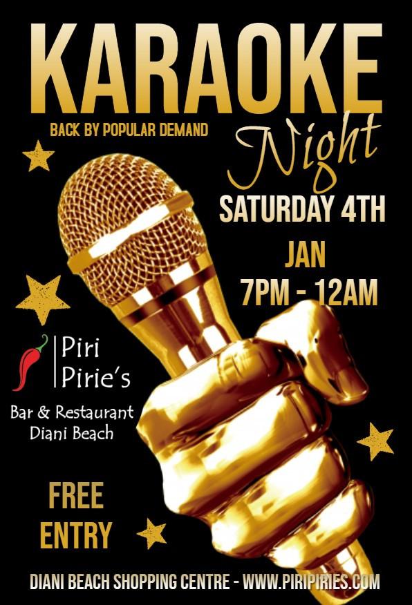 Karaoke Night 4th Jan