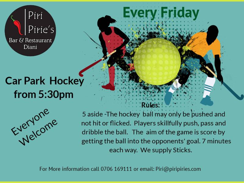 5:30pm Onwards Hockey at Piri Piries.