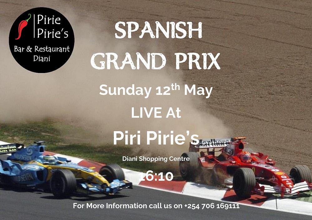 Spanish Grand Prix Live at Piri Pirie's