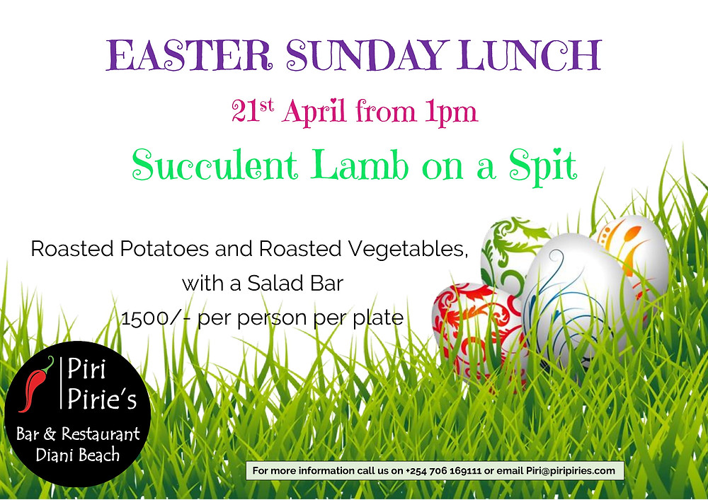 Easter Succulent Lamb o a Spit at Piri Pirie's