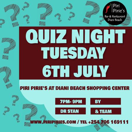 Quiz Night 6th July