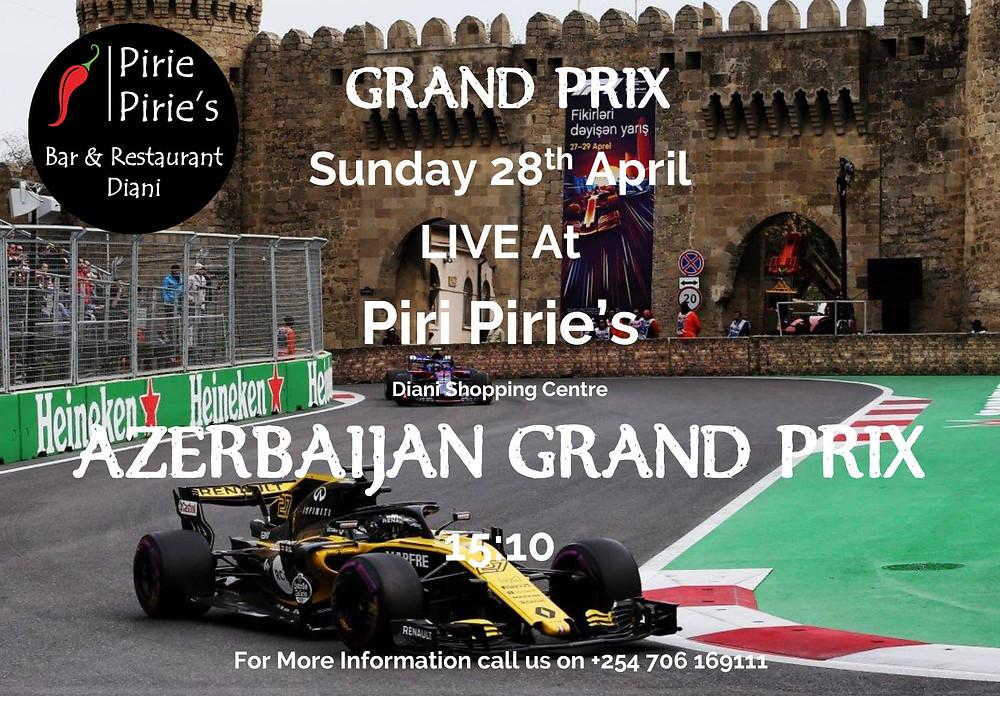 Formula 1 Live at Piri Pirie's