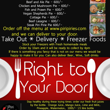 Take away and Delivery