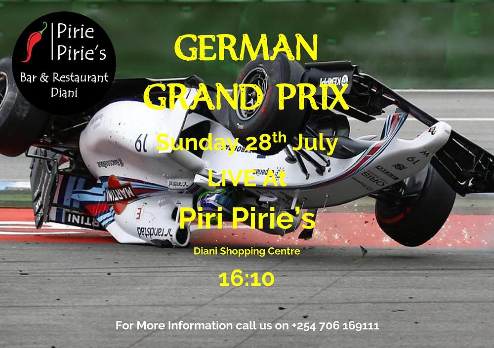 German F1 Live on a Big Screen at Piri Piries