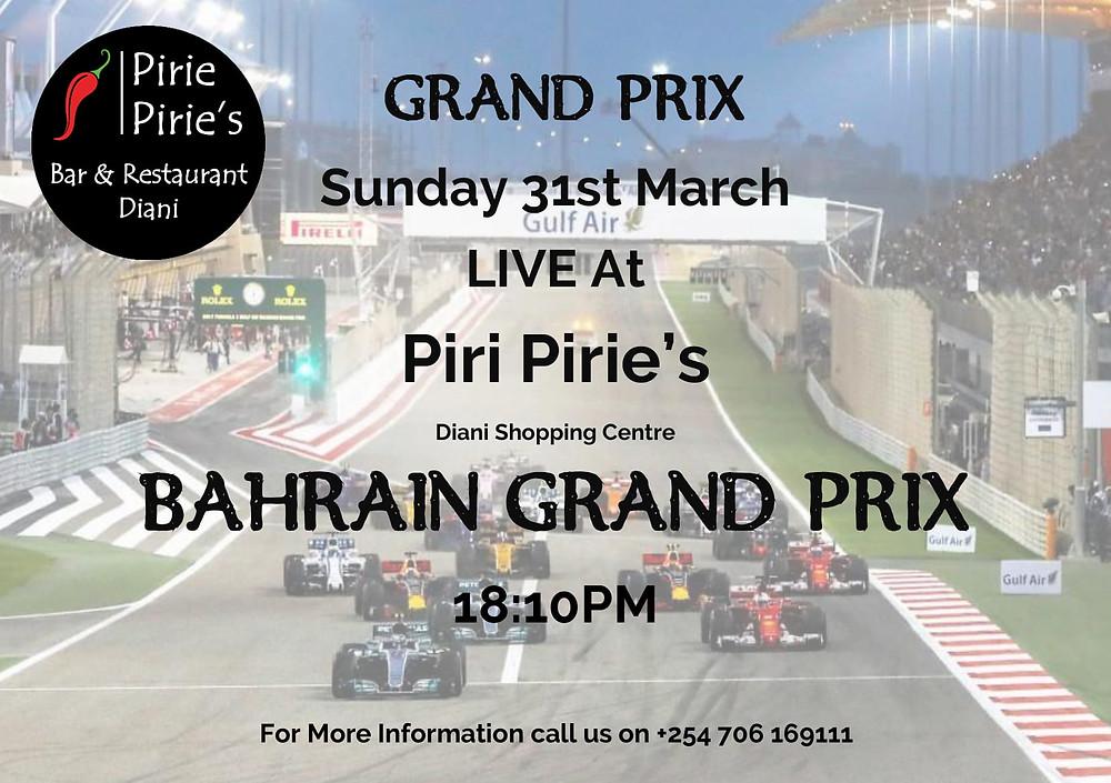 Bahrain Grand Prix Live at Piri Pirie's