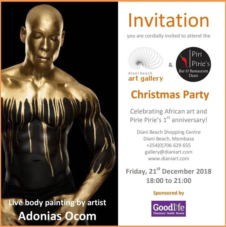 Invitation to Art Gallery and Piri Pirie's Christmas Party