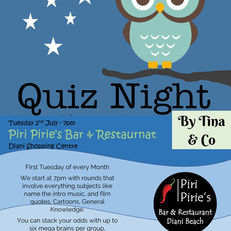 Quiz Night 2nd July 7pm