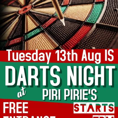 Darts at Piri Pirie's