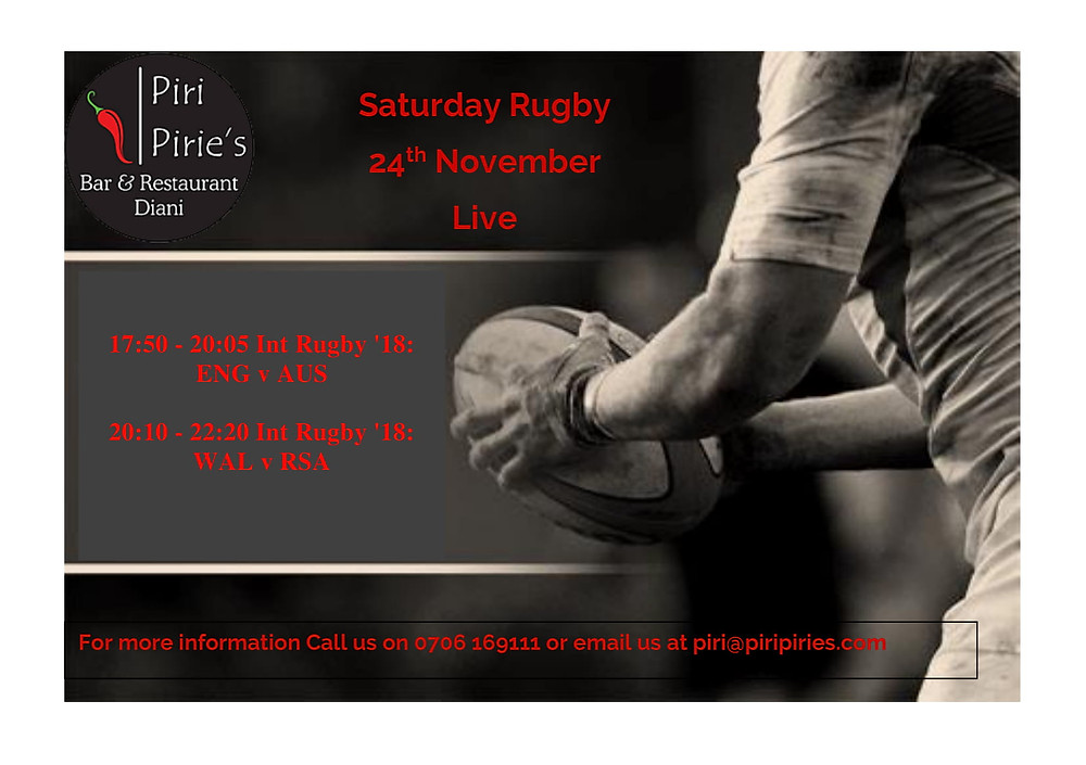 Live Rugby 17:50 ENG vs Rugby, 20:10 WAL vs RSA