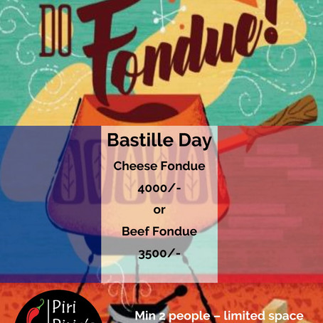 Bastille Day and Fondue Special