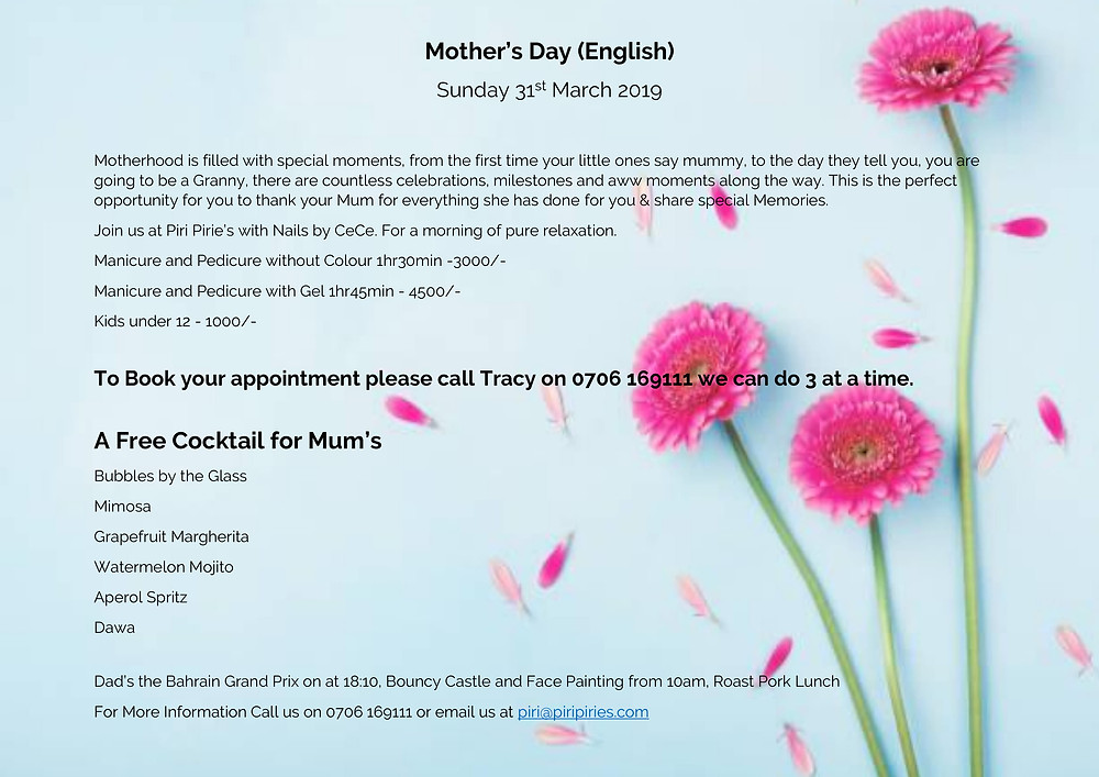 Treat your Mums to a Cocktail and Spa Morning