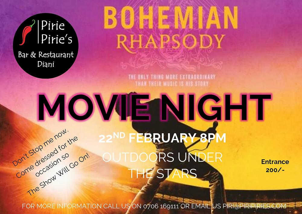 Movie Night 22nd Feb Bohemian Rhapsody