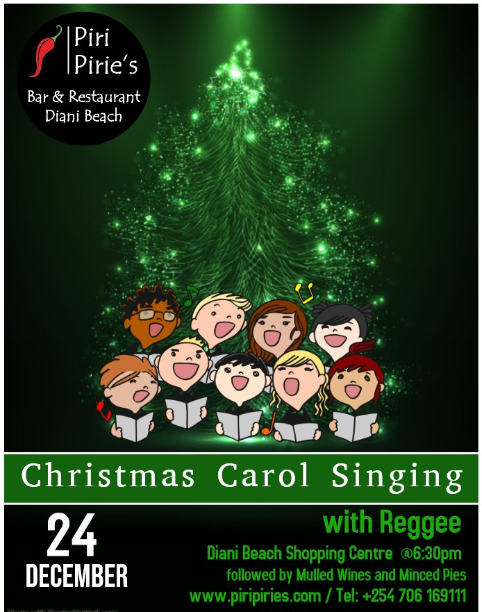 Come and have a sing along with Reggee and all the well Known Christmas Carols