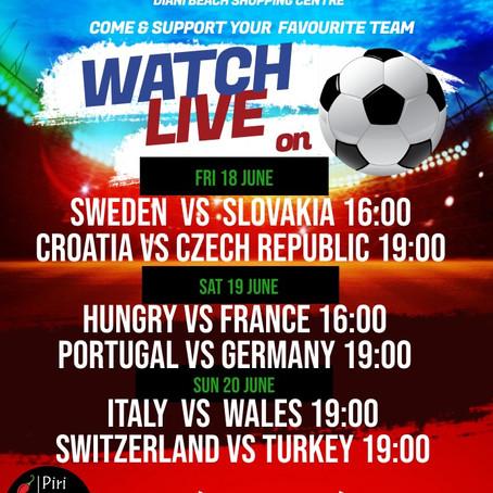 Euro2021 Weekend 18/19/20th June