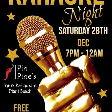 Karaoke 28th Dec 7pm