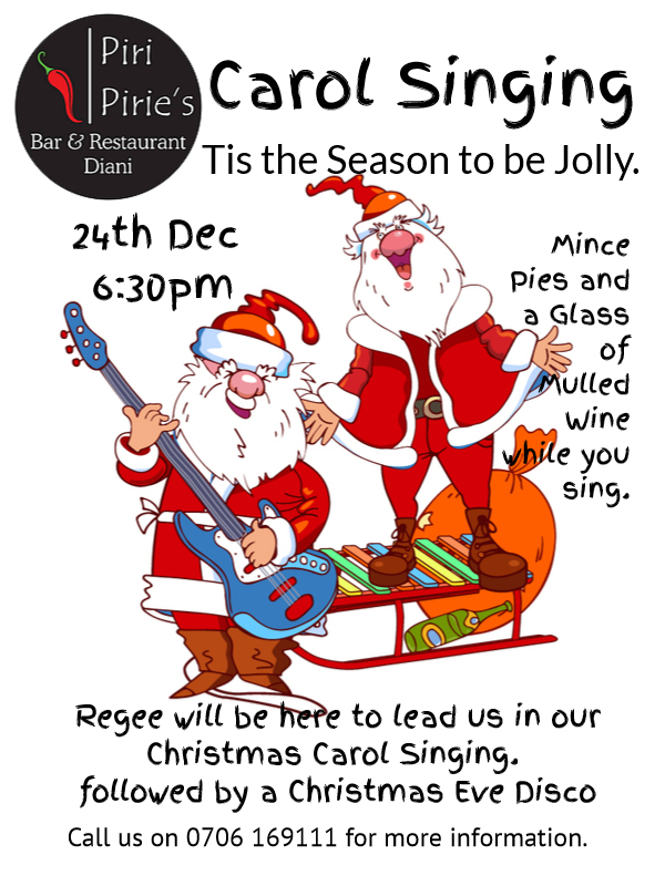 Come join us in a Christmas Carol Sing a Long.