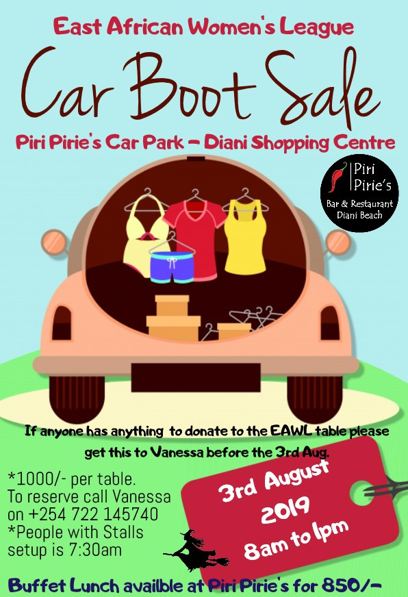 EAWL Car Boot Sale at Piri Pirie's
