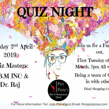 Piri Pirie's Monthly Quiz