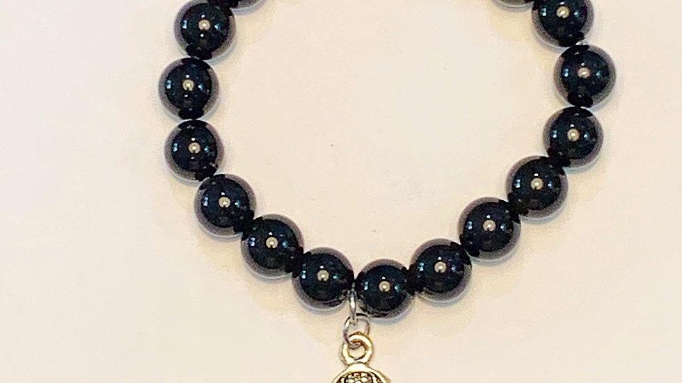 Obsidian Hamsa bracelet