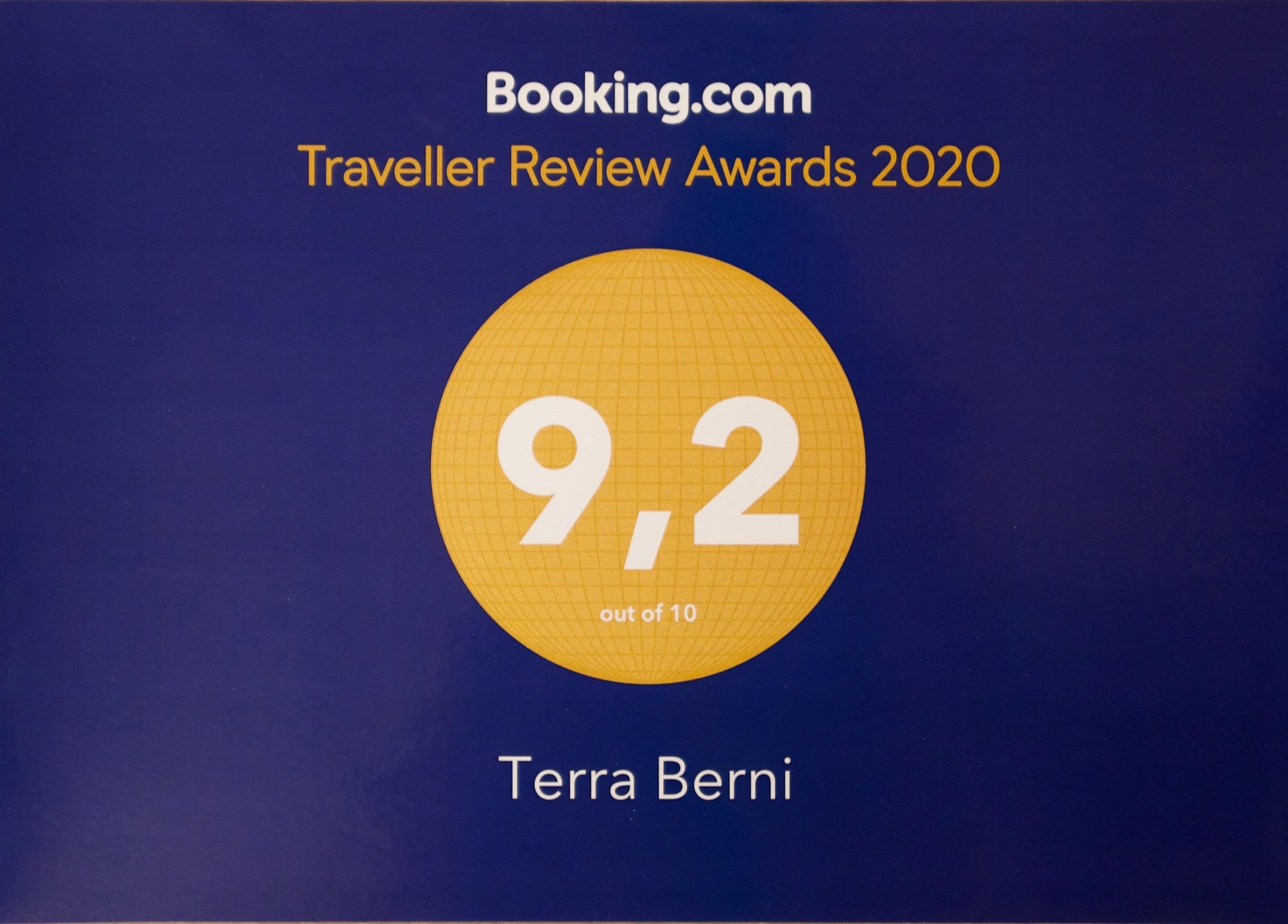 Traveller Review Award 2020