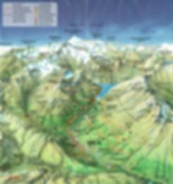Landkarte Vals Sommer