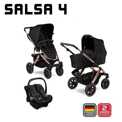 Salsa 4 ROSE GOLD Diamond (Carrinho +Bebê Conforto Tulip + Adaptador + Mo