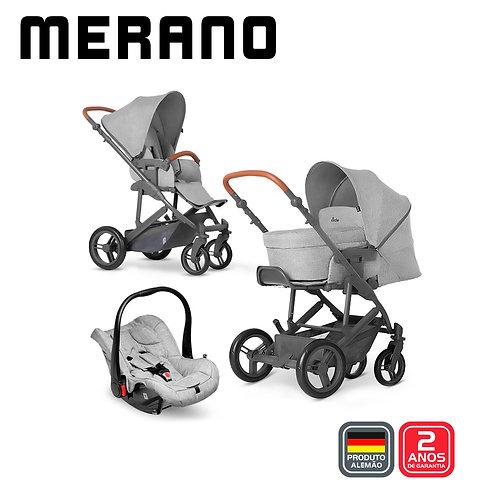 Merano 4 Woven GREY (Carrinho + Bebê Conforto Risus + Moises Soft +Shopping Bag)