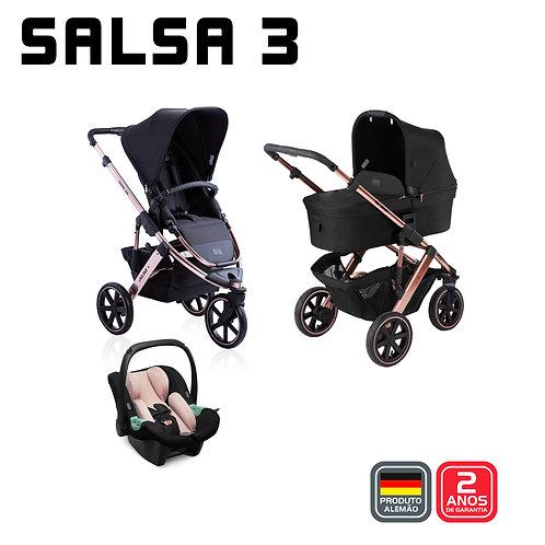 Salsa 3 ROSE GOLD Diamond (Carrinho + Bebê Conforto Tulip + Adaptador + Moisés)