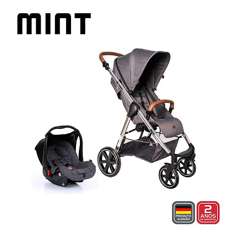Mint Diamond Asphalt (Carrinho +Bebê Conforto+Adaptador)