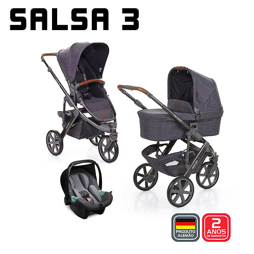 Salsa 3 STYLE STREET (Carrinho + Bebê Conforto Tulip + Adaptador + Moisés)