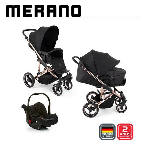 Merano 4 ROSE GOLD Diamond (Bebê Conforto Risus + Moises Soft+Shopping Bag)