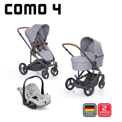 COMO 4 Woven GREY (Carrinho + Moisés + Bebê Conforto Risus + Bolsa)