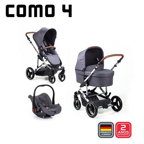 COMO 4 ASPHALT Diamond (Carrinho + Moisés + BB Conforto + Bolsa)