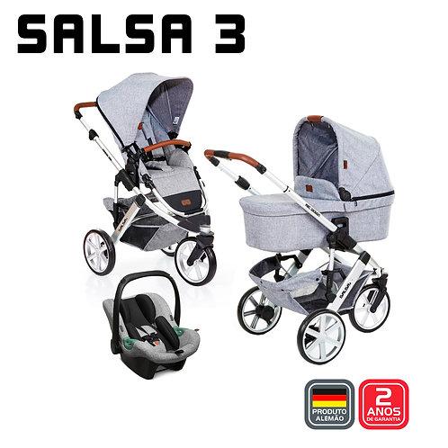 Salsa 3 GRAPHITE (Carrinho + Bebê Conforto Tulip + Adaptador + Moisés)