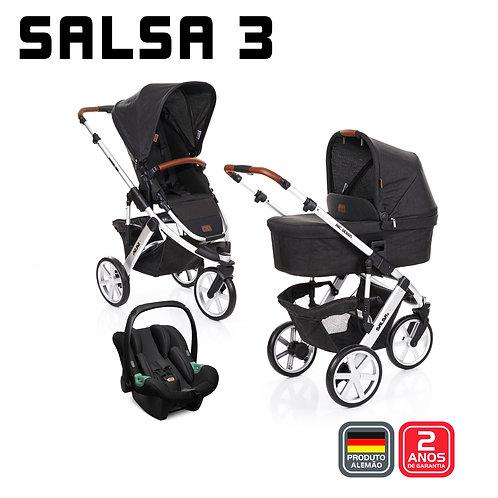 Salsa 3 PIANO (Carrinho + Bebê Conforto Tulip + Adaptador + Moisés)