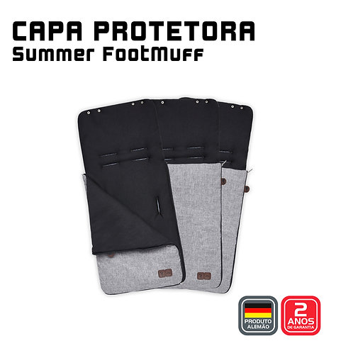 Summer Footmuff (Capa protetora + Saco de Dormir) GRAPHITE GREY