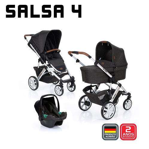 Salsa 4 PIANO (Carrinho + Bebê Conforto Tulip + Adaptador + Moises)