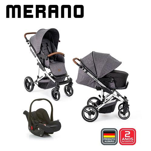Merano 4 ASPHALT Diamond (Bebê Conforto Risus + Moises Soft +Shopping Bag)