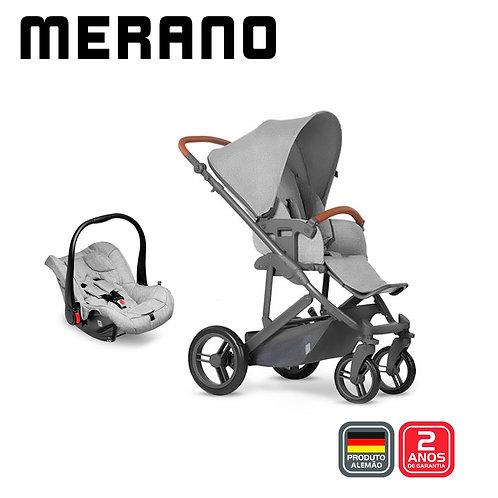 Merano 4 Woven GREY (Carrinho + Bebê Conforto Risus + Shopping Bag)