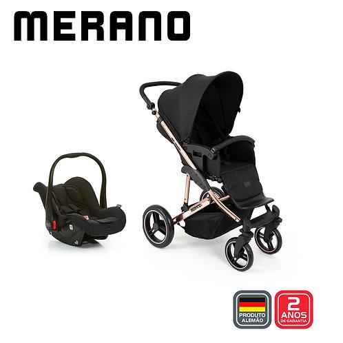 Merano 4 ROSE GOLD Diamond (Carrinho + Bebê Conforto Risus + Shopping Bag
