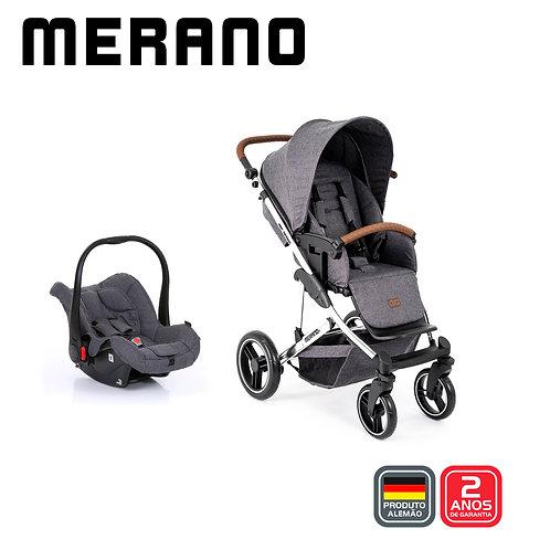 Merano 4 ASPHALT Diamond (Carrinho + Bebê Conforto Risus + Shopping Bag)