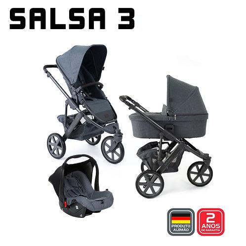 Salsa 3 MOUNTAIN (Carrinho + Bebê Conforto Risus + Adaptador + Moisés)