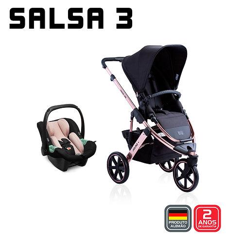 Salsa 3 ROSE GOLD Diamond (Carrinho + Bebê Conforto Tulip + Adaptador)