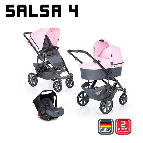 Salsa 4 ROSE (Carrinho + Moises + Bebê Conforto + Adaptador) - PROMOÇÃO