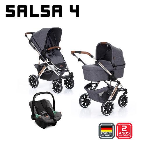 Salsa 4 ASPHALT Diamond (Carrinho +Bebê Conforto Tulip + Adaptador + Moisés)